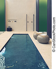 home swimming pool in contemporary style