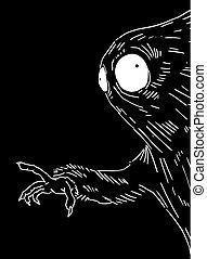 design of imaginative dark creature