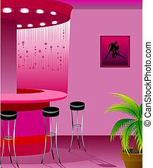 design of interior of bar is in 3d