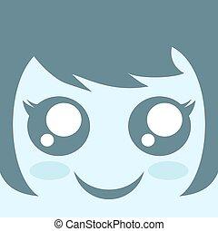 kawaii girl face