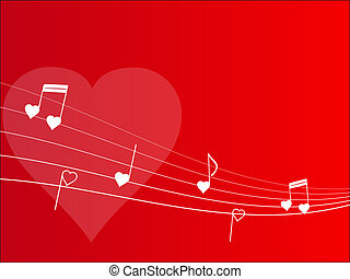 design of love melody with notes