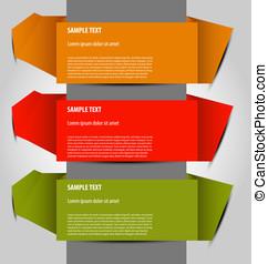 vector option templates - Design of multicolor vector option...
