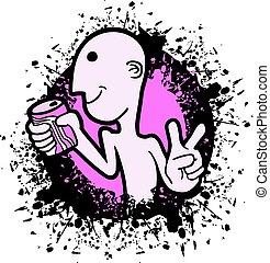 nice pink art refresh illustration