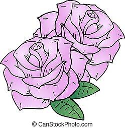 nice pnik roses illustration