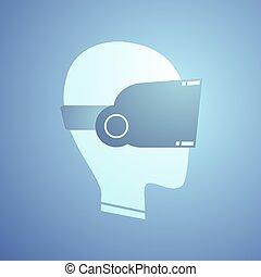 nice virtual reality icon