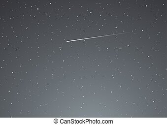 night sky with shooting star
