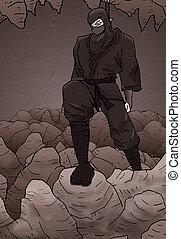 Design of ninja in rock cavern