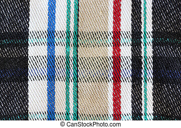 Design of pattern on fabric.