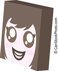 pretty cube girl face