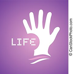 purple hand symbol