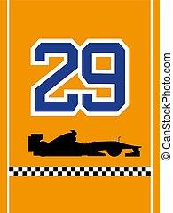 racing dorsal number 29 - design of racing dorsal number 29