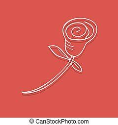 red rose illustration