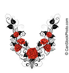 Design of red roses