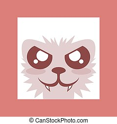 red wolf face icon