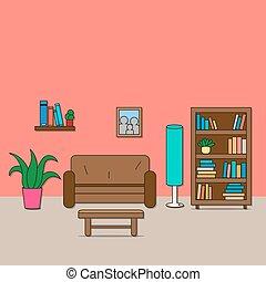 Design of room - sitting room. - Design of room - sitting...