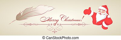 design of Santa Claus and pen