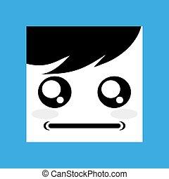 design of serious face icon