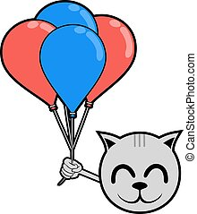 smile animal with balloons