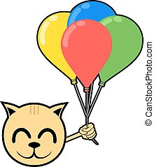 smile animal with color balloons