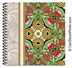 design of spiral ornamental notebook cover