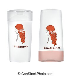 design of the bottle for shampoo