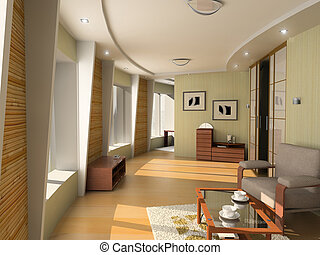 modern hotel interior - design of the modern hotel interior...