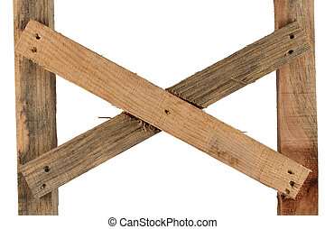 Design of the rough wooden planks.