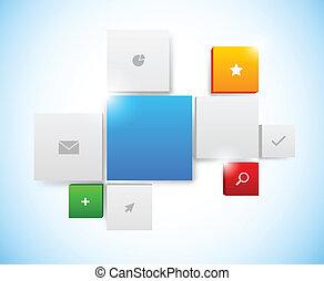 Design of tiled interface