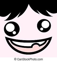 ugly crazy face - design of ugly crazy face