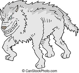 white wolf illustration