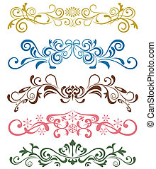 Design ornaments set. Illustration
