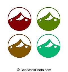design, předloha, 4, barvitý, rozmanitý, barvy, hory