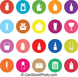 Design package flat icons on white background