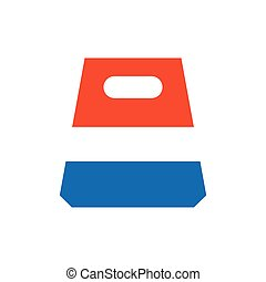 design paper bag icon blue and orange