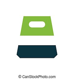 design paper bag icon green
