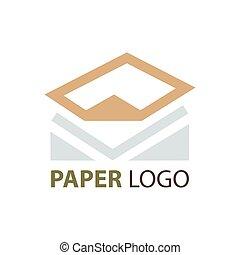 design paper logo brown color