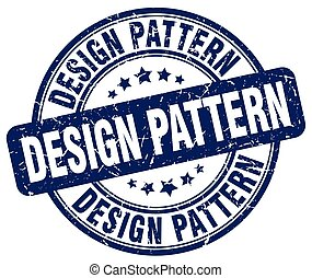 design pattern blue grunge stamp