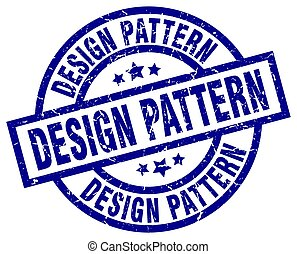 design pattern blue round grunge stamp