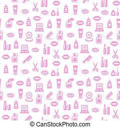 design., pattern., cosmetico, fondo, seamless