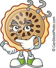 design pecan pie thinking with seeds topping vector ...