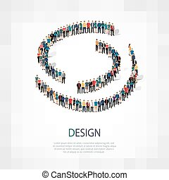 design people sign 3d