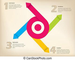 design, pfeil, inforgraphic
