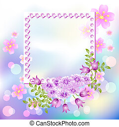 Design photo frames with flowers