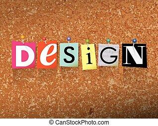 Design Pinned Paper Concept Illustration
