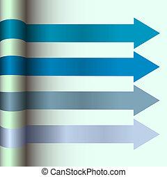 design, plan, pfeile, blaues