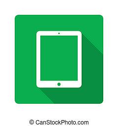 design., plat, informatique, tablette, icône