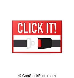 design., plat, sécurité, illustration., vecteur, ceinture