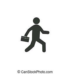design., plat, vecteur, illustration, homme affaires, icon., business