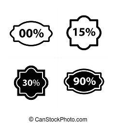 Design Price tags, label set