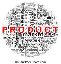 design, produkt, kreisförmig, wort, etikette